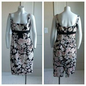 Maggy London Floral Sleeveless Back Split Dress